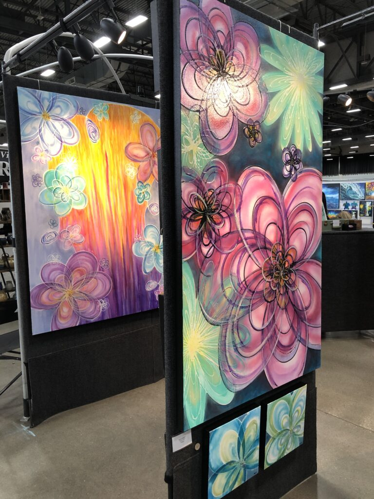 Art Fair Booth with paintings